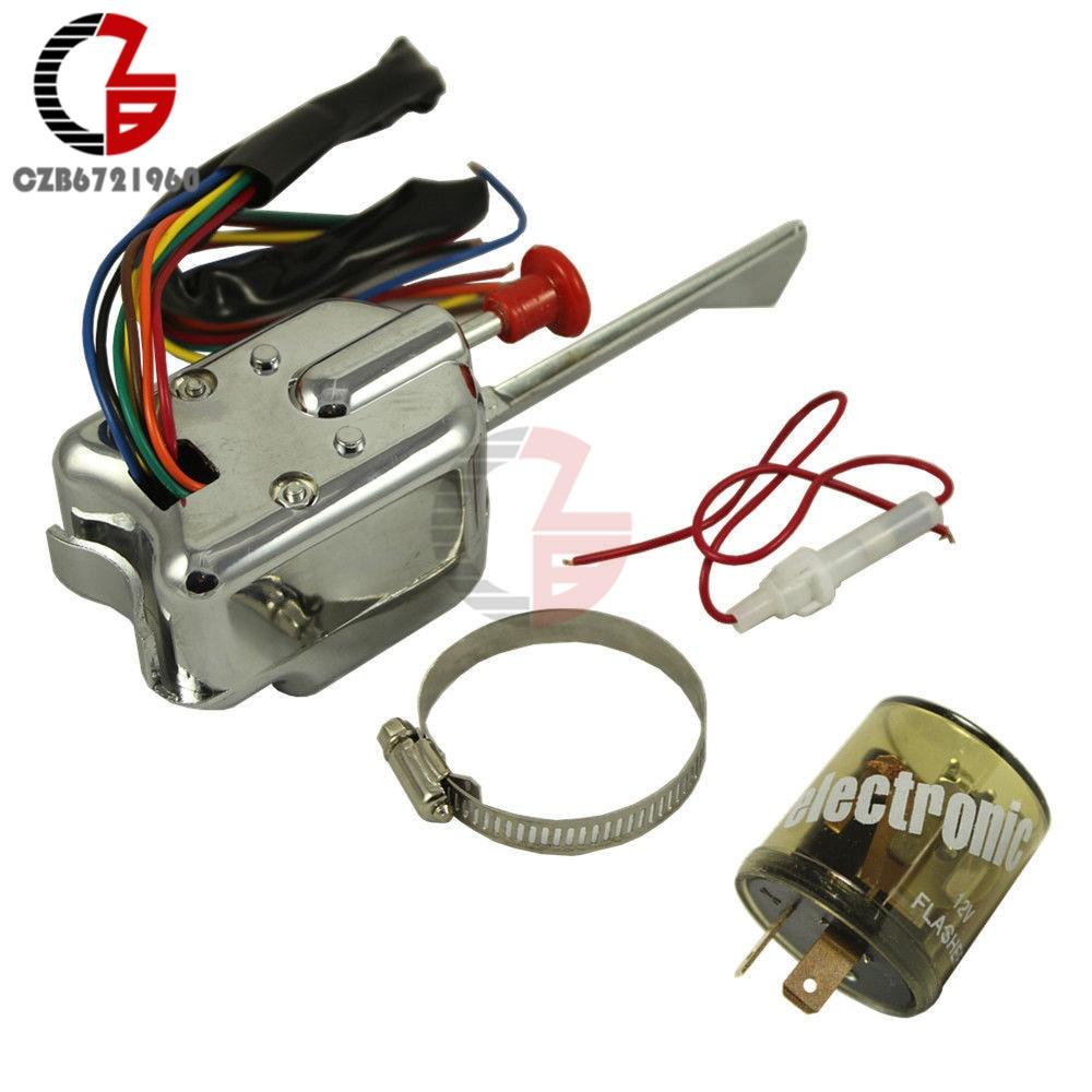 12V Universal Street Hot Rod Turn Signal Switch For FORD GM With Flasher усилитель интернет сигнала connect street 3g 4g universal