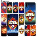 Lavaza Russia PFC CSKA Moscow logo Hard Cover Case for Apple iPhone X XS Max XR 6 6S 7 8 Plus 5 5S SE 5C 4S 10 Phone Casesr