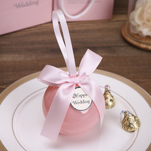 20pcs/lot Plastic ball Candy Box pink packaging gift box plastic bag baby shower boy wedding gift boxes Birthday Party Supplies 2018 hot sale new pvc box 20pcs lot zerong gift clear packaging boxes plastic container retail chocolate box candy box