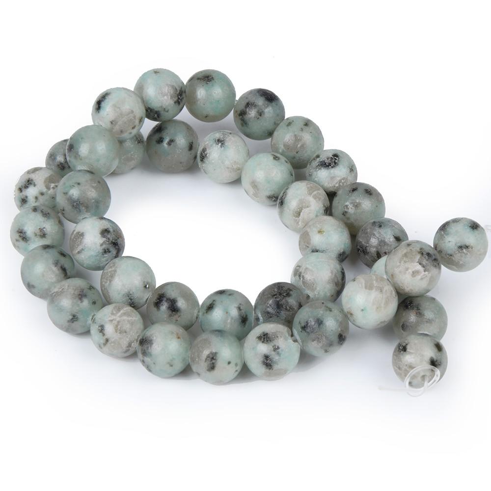 Black line Rhodonite Tianshan Blue Stone Women Jewelry Fashion Making Loose Beads 4 6 8 10 12mm