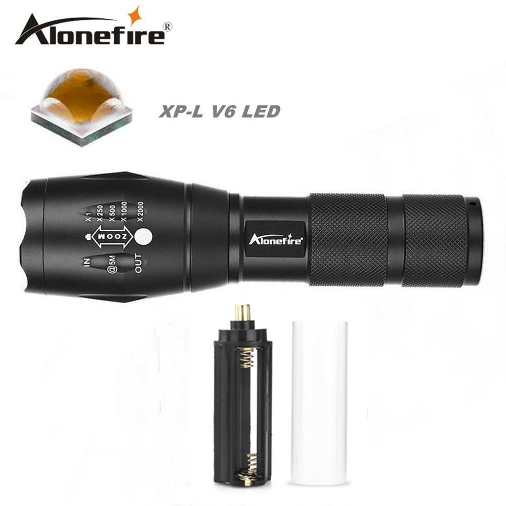 Alonefire E17 cree XP-L V6 ultra brillante 10 W LED linterna zoom de enfoque linterna V6 linterna antorcha zoomable impermeable linterna