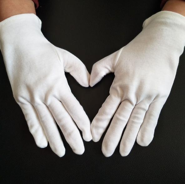 12 Pair Multifunction White Cotton Gloves for Planting Gardening Work male female Serving   Waiters drivers Gloves