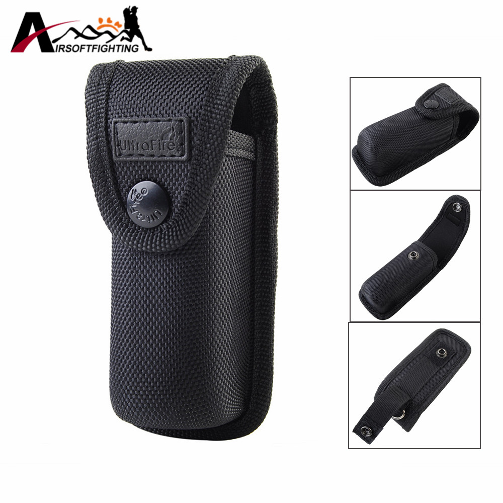 Tactical 13CM Flashlight Holster Molle Pouch Outdoor Hunting Hiking Portable Electronic Torch Holster Cover Case for Belt BK цена
