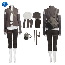 ManLuYunXiao New Star Wars 8 Cosplay Costume Rey Adult Dress Women Halloween For Free Shipping Basic