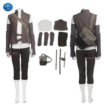 ManLuYunXiao New Star Wars 8 Cosplay Costume Rey Costume Adult Dress Women Halloween Costume For Women Free Shipping Women Basic