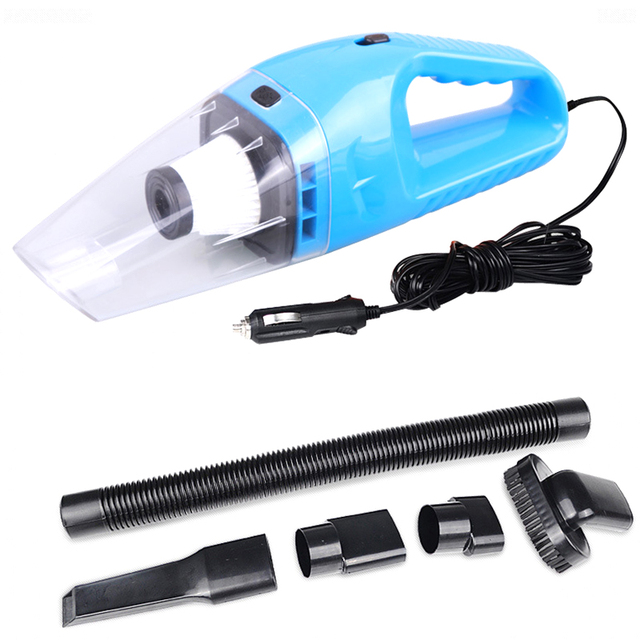 Free Shipping Portable 12V 120W Car Vacuum Cleaner Handheld Super Suction 5m Cable Wet Dry Dual-use Dust Mini Vacuum Cleaner