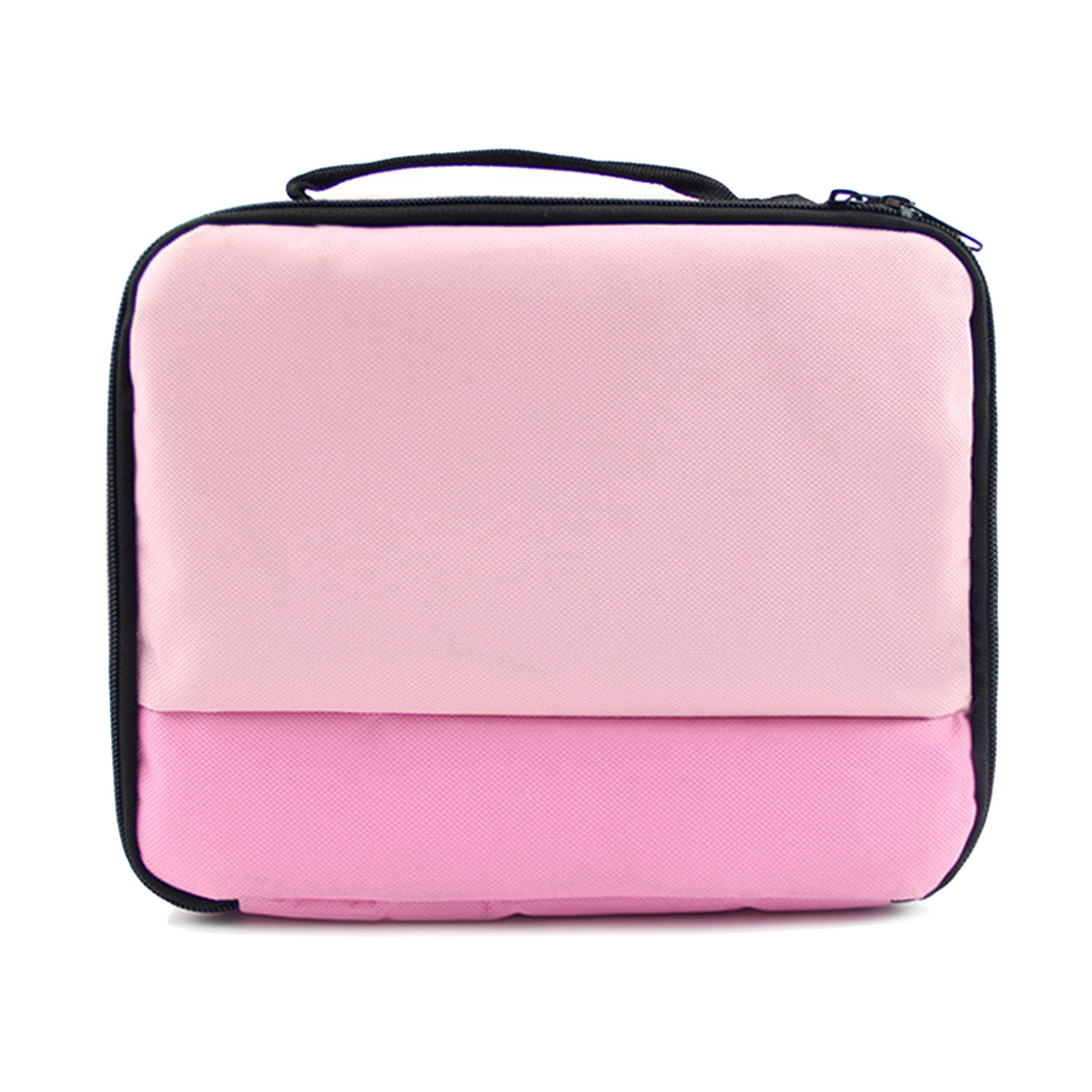 Universal Portable Travel Carry Storage Protector Bag Protection Handbag Case for Canon Selphy CP1200 CP910 HITI Prinhome P310W Photo Printer (Grey/Pink) - intl