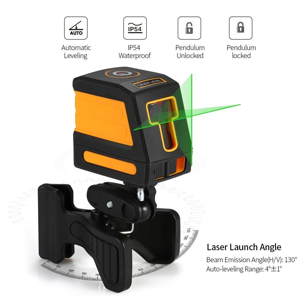 Mini Instrument de nivellement Laser auto-nivelant dispositif de nivellement Laser professionnel Horizontal Vertical nivellement Laser