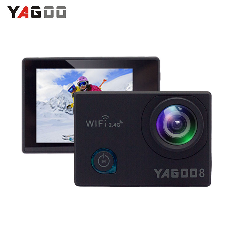 Action camera deportiva Original YAGOO8 remote Ultra HD 4K WiFi 1080P 60fps 2.0 LCD 170D pro sport waterproof go remote camera 2017 arrival original eken action camera h9 h9r 4k sport camera with remote hd wifi 1080p 30fps go waterproof pro actoin cam