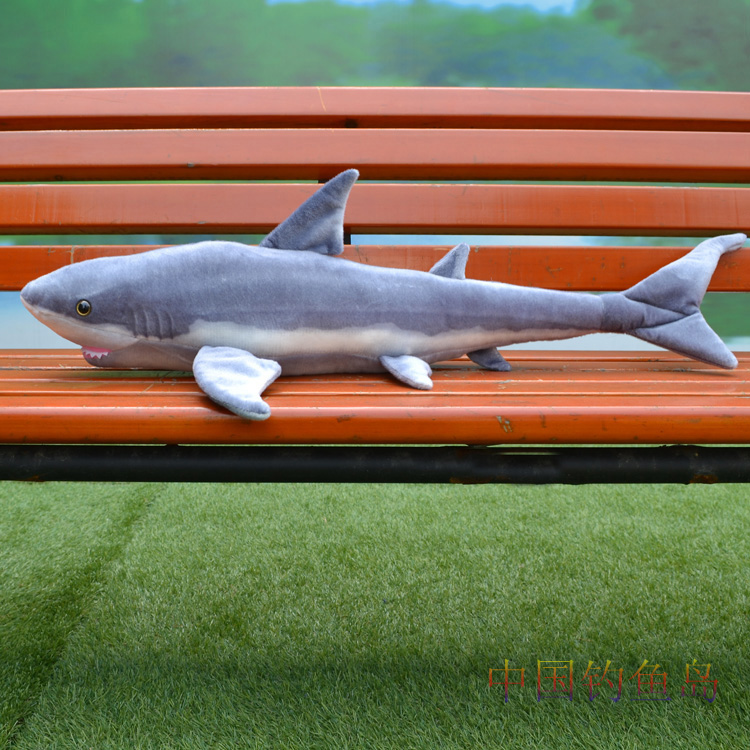 small size plush shark toy simulation gray shark stuffed doll birthday gift about 100cm stuffed animal 110cm plush tiger toy about 43 inch simulation tiger doll great gift free shipping w018