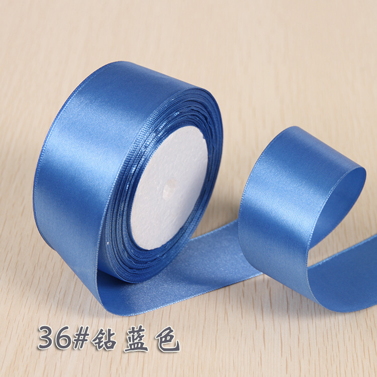 6 мм 1 см 1,5 см 2 см 2,5 см 4 5 см атласными лентами DIY искусственный шелк розы Ремесла поставок швейной фурнитуры Скрапбукинг материал - Цвет: NO 36 Blue