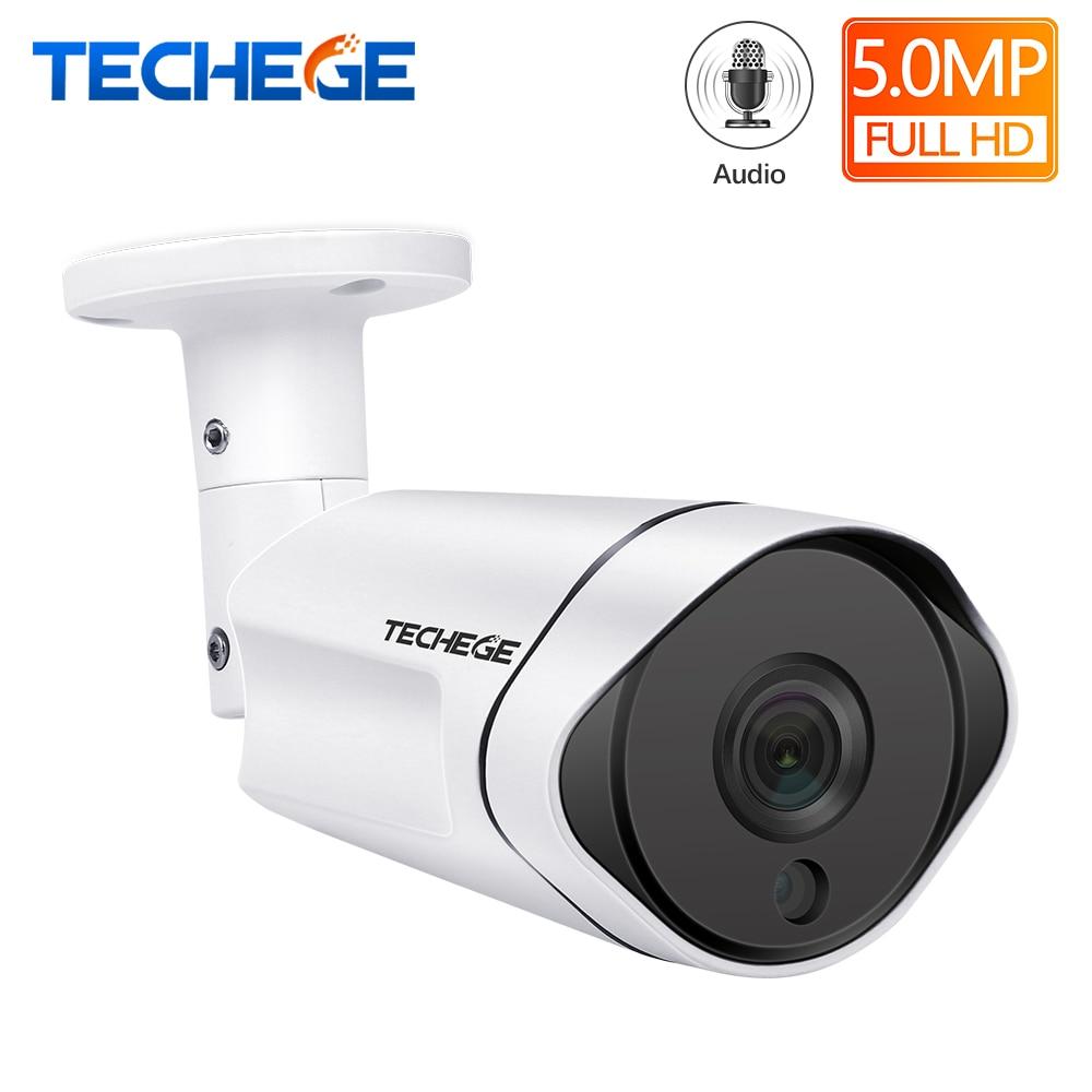 Techege H.265 5MP Câmera IP POE Ao Ar Livre Câmera de Vigilância de Vídeo À Prova D' Água Onvif FTP Movimento Dectection CCTV Camera DC 12V /48V