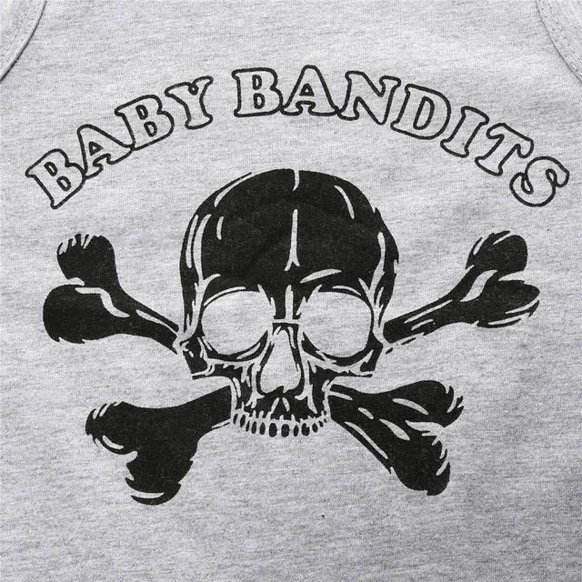 BABY BANDITS SKULL CROSS BONES JUMPSUIT