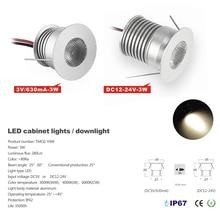 24pcs super bright best price 25D/60D beam with Cree chip 3W mini led downlight 30mm cut ceiling spotlight DC3V/620mA/DC12-24V