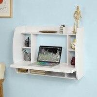 벽 마운트 테이블 책상 스토리지 선반 및 서랍 홈 오피스 데스크 워크 스테이션 sobuy FWT18 W|콘솔 탁자|   -