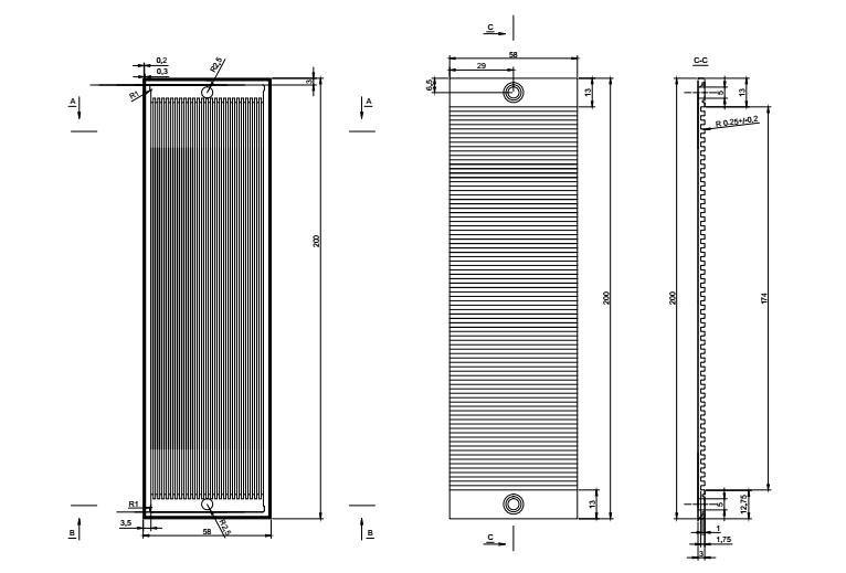 graphite bipolar plate for fuel cell (customized as per drawing) plant microbial fuel cell for green electricity generation
