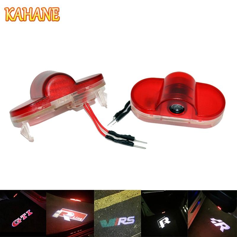 KAHANE 2x LED Car Door Light Projector Courtesy Laser Light Ghost Shadow Welcome Light FOR VW Golf 4 Touran Caddy Beetle ghost light