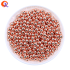 Fashion CCB Bead Jewelry Accessories 1000Pcs/Lot Rose Gold Color Smooth Round Plastic Bead 5-8MM Spacer Bead