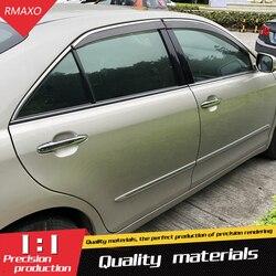 Dla Toyota Camry osłona z tworzywa sztucznego odcienie słońce deszcz osłona przeciwdeszczowa dla Camry akcesoria samochodowe 4 sztuk/zestaw 2006  2011|Markizy i zadaszenia|   -