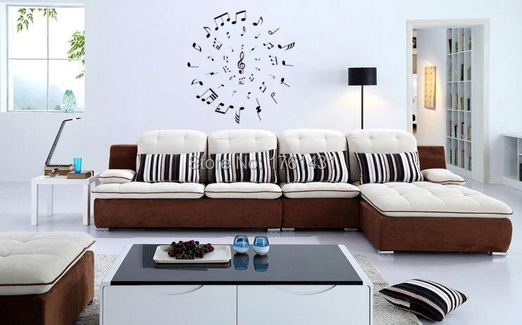 Muziek Cirkel wall art decals woonkamer decoratie slaapkamer behang ...