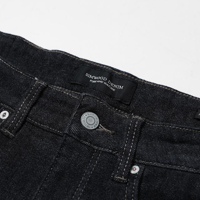 SIMWOOD 2018 Autumn Hot Sale New Jeans Men Skinny Jeans Denim Overalls Men Slim Fit Plus Size Fashion Trousers Plus Size 180144