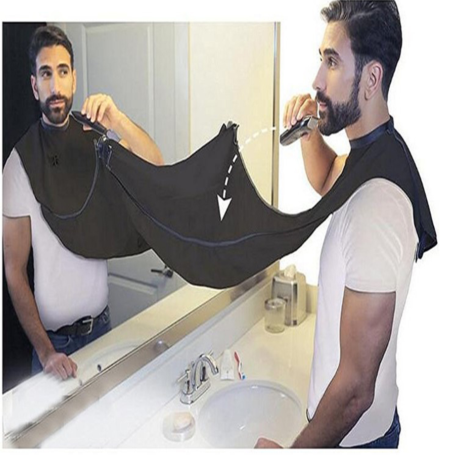 maxswan design beard shave apron bib catcher trimmer facial hair cape sink black shaving aprons. Black Bedroom Furniture Sets. Home Design Ideas