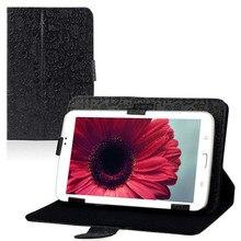 """Confiable universal 7 """"cubierta case folio del soporte del cuero para 7"""" pulgadas android tablet pc mid"""
