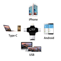 android 4 2 4 in 1 Type-c/Lightning/Micro USB/USB 2.0 Memory Card Reader Micro SD Card Reader for Android Ipad/iphone 7plus 6s5s OTG reader (5)