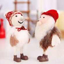 26 Colors Christmas Felt Snowman Old Man Doll Ornament Christmas Decorations Ornament Children Gift Christmas Decorations Z цены