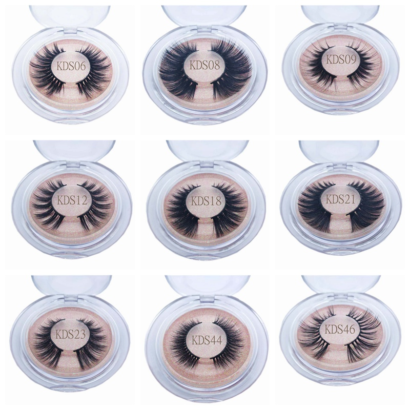 Buzzme KDS Style 3D Faux Mink Lashes Natural Long False Eyelashes Makeup Lashes