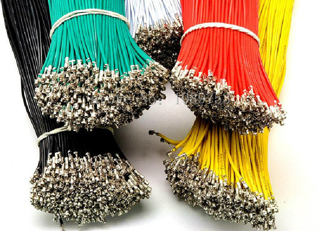 New 6 Colors XH2.54 Single Tin Header 10CM/20CM/30CM Terminal wire Connector wire 26AWG
