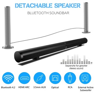 Image 3 - TV Soundbar Bluetooth Speaker Wireless Stylish Fabric Sound Bar Hifi 3D Stereo Surround Support RCA AUX HDMI For Home Theater