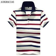 AIRGRACIAS Camisa Marca Polo Dos Homens de Verão de Alta Qualidade Estilo Casual  Camisa Polo Dos b306a53daefa5