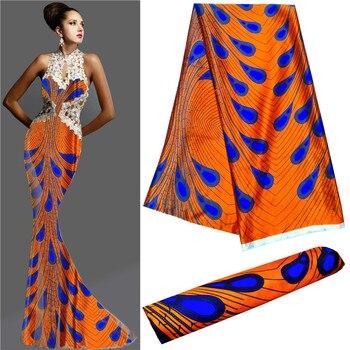 Tela africana de alta calidad, nuevo modelo, tela de seda, material suave, vestido de mujer imitación para telas de seda, 5 yardas por lote