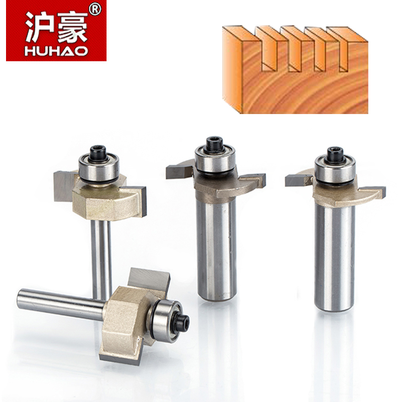 HUHAO 1pc 1/2 Shank T Type Bit With Bearing Woodworking Tool Router Bits For Wood Rabbeting Bit Endmill CNC Milling Cutter high grade carbide alloy 1 2 shank 2 1 4 dia bottom cleaning router bit woodworking milling cutter for mdf wood 55mm mayitr