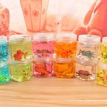 Colorful Plasticine DIY Jelly Mud Insect Fish Animal Dinosaur Hexagon Bottle Bubble Light Clay  Crystal Slime Modeling