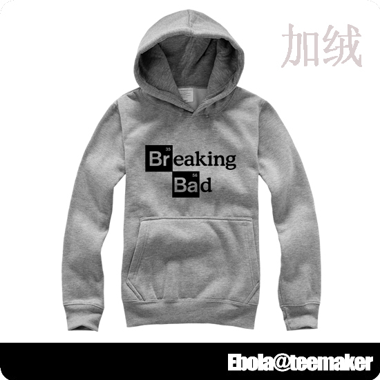Ectic Breaking bad cotton long-sleeve autumn and winter hoody sitcoms velvet pullover sweatshirt lovers design size heisenber