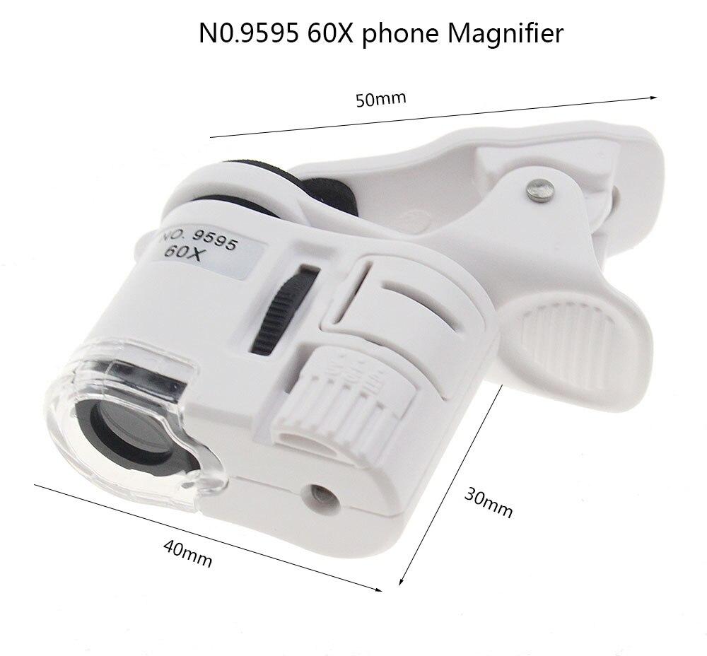 2018 Loupe Led Lupa Nouvelle Mini 60X Microscope de Poche Bijoux Loupe Loupe En Verre LED UV Light Brand New
