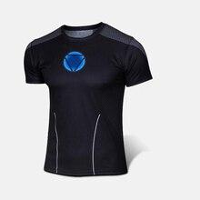 Высокое Качество НОВОГО 2017 Marvel Железный Человек Реактора костюм Футболка Мужчины США clothing Super Hero Джерси короткими рукавами XS-XXXXL
