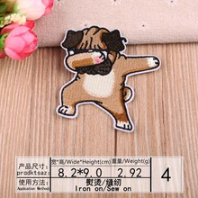 DOUBLEHEE Size 8.2CM*9CM Patch Embroidered Patches For Clothing Iron On Close Shoes Bags Badges Embroidery