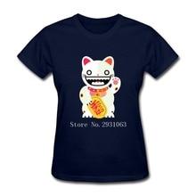 Womens Short Sleeve T-Shirt Lucky Tops Tees Novelty Camisetas Women T Shirts Round Neck Custom Made T Shirt 3d Women