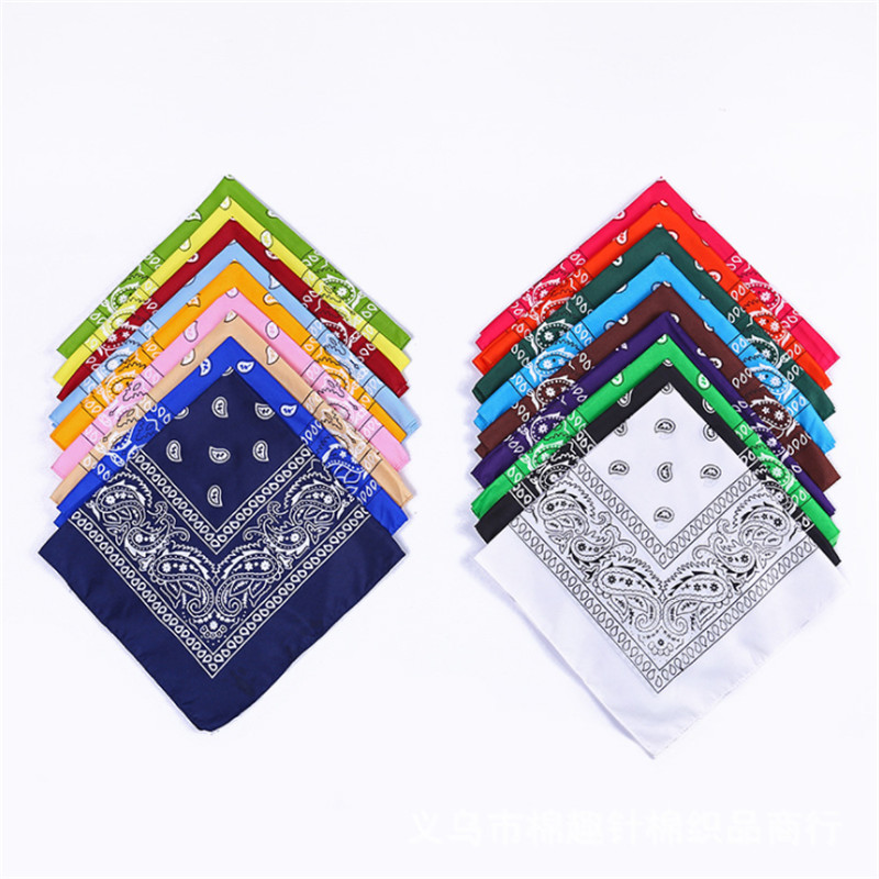 1 uniunid Newest Bandanas Paisley   Headwear   Cotton Scarves Wristband hot selling selling Wrap Square Hair Band Wrist Wrap Headtie