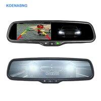 Elektronische Auto Dimmen 4,3 TFT LCD HD 800*480 Spezielle Halterung Auto Rückansicht Rückspiegel Monitor für Toyota Hyundai Nissan