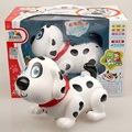W052PO Inteligente Eletrônico Andando Pet Cão Robô Cão Filhote de Cachorro Do Bebê Amigo Parceiro Presente Com Luz Música Brinquedos Para Crianças Crianças