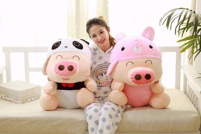 Énorme nouveau jouet de cochon en peluche animal mcterne créatif grand beau cadeau de poupée de cochon environ 90 cm