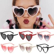 Новинка, женские очки для вождения, Ретро стиль, в форме сердца, оттенки, солнцезащитные очки, интегрированные, УФ очки, анти-УФ очки, p#, Прямая поставка