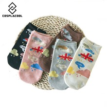[COSPLACOOL]leuke calcetines femme hosiery ladies wool socks paint funny socks women christmas harajuku meias women cotton socks