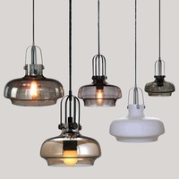 Nordic glass shade pendant lights personality bar cafe clothing store decorative lamps single head pendant lamps ZA