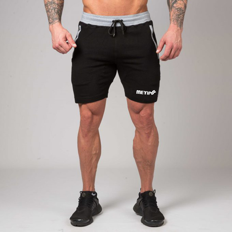 Mens gym cotton shorts Running jogging outdoor sports Fitness Sweatpants 2018 New male workout training Brand short pants