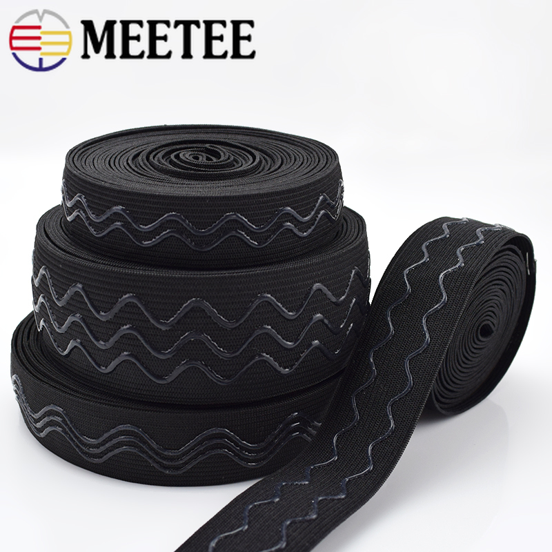 Meetee Elastic-Band Silicone Wrist-Guard Sew-Accessories Sport-Clothes Non-Slip Wave